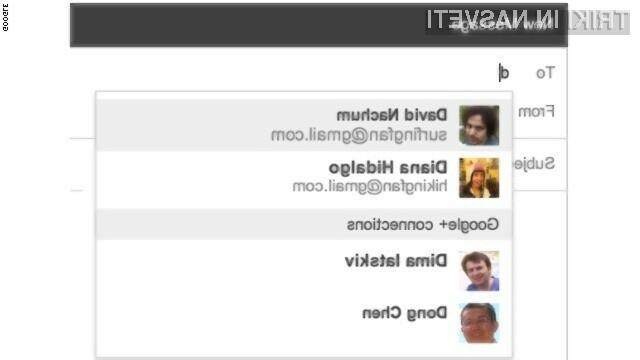 Google omogoča neznancem komunikacijo z vami