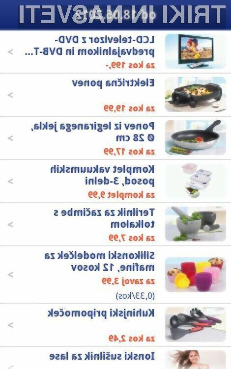 Z aplikacijo Hofer Slovenija imamo vse akcijske cene v Hoferju na enem mestu. (foto: Google Play)