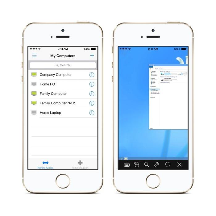 Dostop in nadzor oddaljenega računalnika z iPhonom 5S
