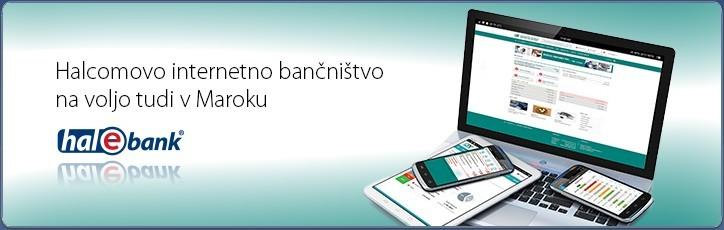 Halcomovo internetno bančništvo v produkciji v banki Crédit du Maroc