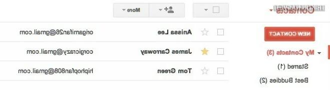 Sedaj lahko kontaktom v Gmailu dodate zvezdice.