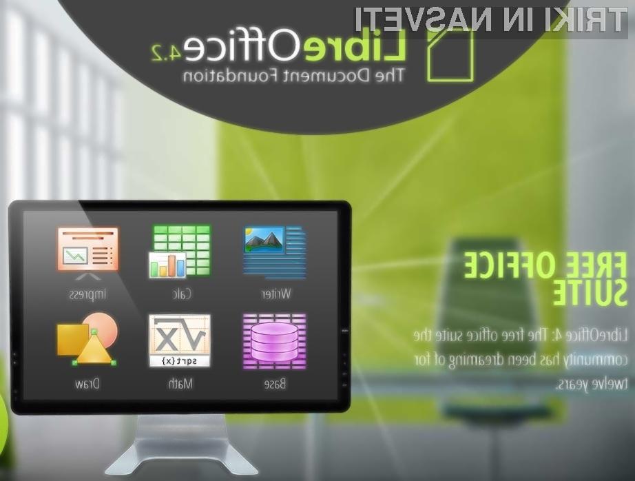 Odprtokodni pisarniški paket LibreOffice se vse bolj postavlja po robu Microsoftovemu pisarniškemu paketu Office!