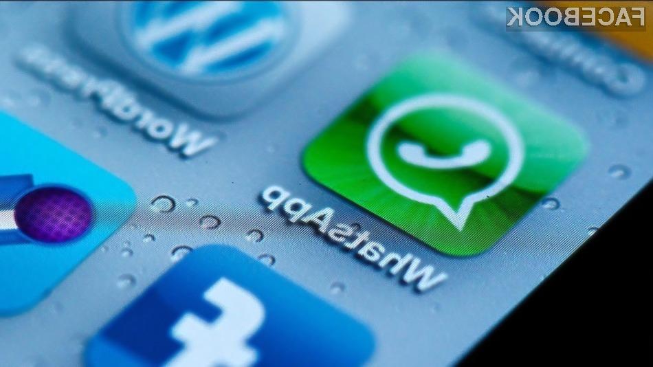 Mobilna aplikacija WhatsApp bo kmalu bogatejša za možnost opravljanja in snemanja zvočnih pogovorov!
