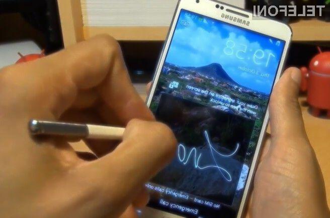 Odklepanje pametnih mobilnih telefonov Samsung z lastnoročnim podpisom naj bi kmalu postalo nekaj povsem običajnega.