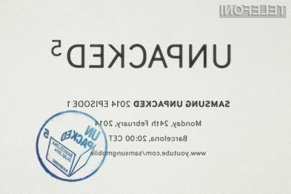 Samsung bo dve različici pametnega mobilnega telefona Galaxy S5 javnosti predstavil 24. februarja v okviru posebne konference.