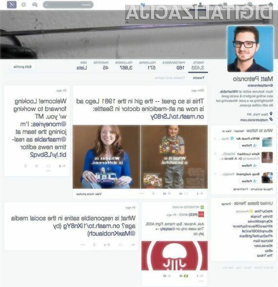 Prenovljeni grafični vmesnik družbenega omrežja Twitter je v primerjavi z zdajšnjim veliko bolj enostavnejši, preglednejši in uporabnikom prijaznejši.