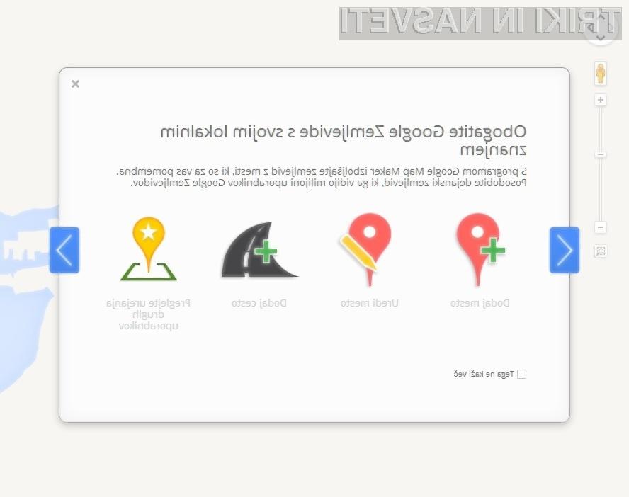 Google Zemljevide lahko odslej obogatimo kar z našim znanjem!