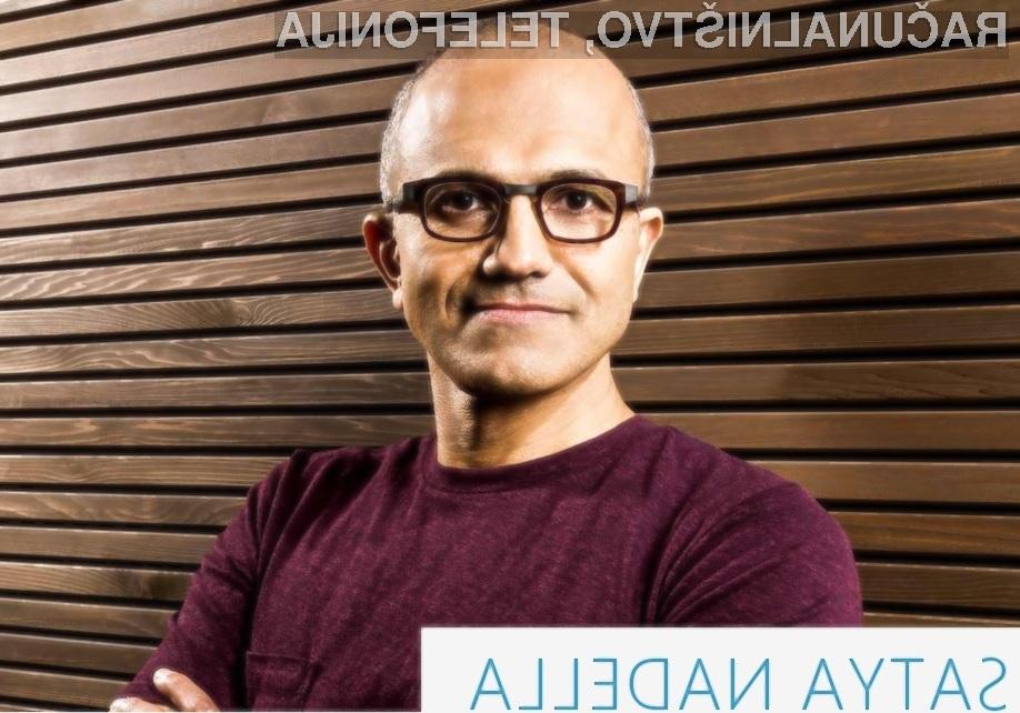 Satya Nadella bo Microsoft poskušal popeljati na pota stare slave!