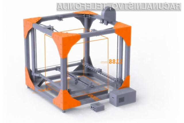 S tem 3D tiskalnikom lahko natisnete pohištvo.