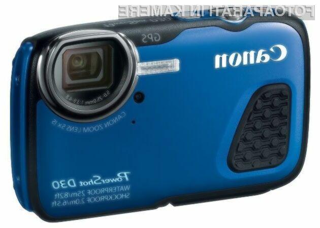 Digitalni fotoaparat Canon PowerShot D30 je kot nalašč za uporabo v najtežjih pogojih, bodisi na kopnem bodisi pod vodo.