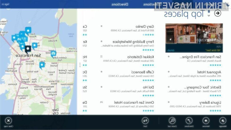Namenska aplikacija za kartografski sistem Nokia Here bo kmalu na voljo vsem uporabnikom operacijskega sistema Windows 8.1!