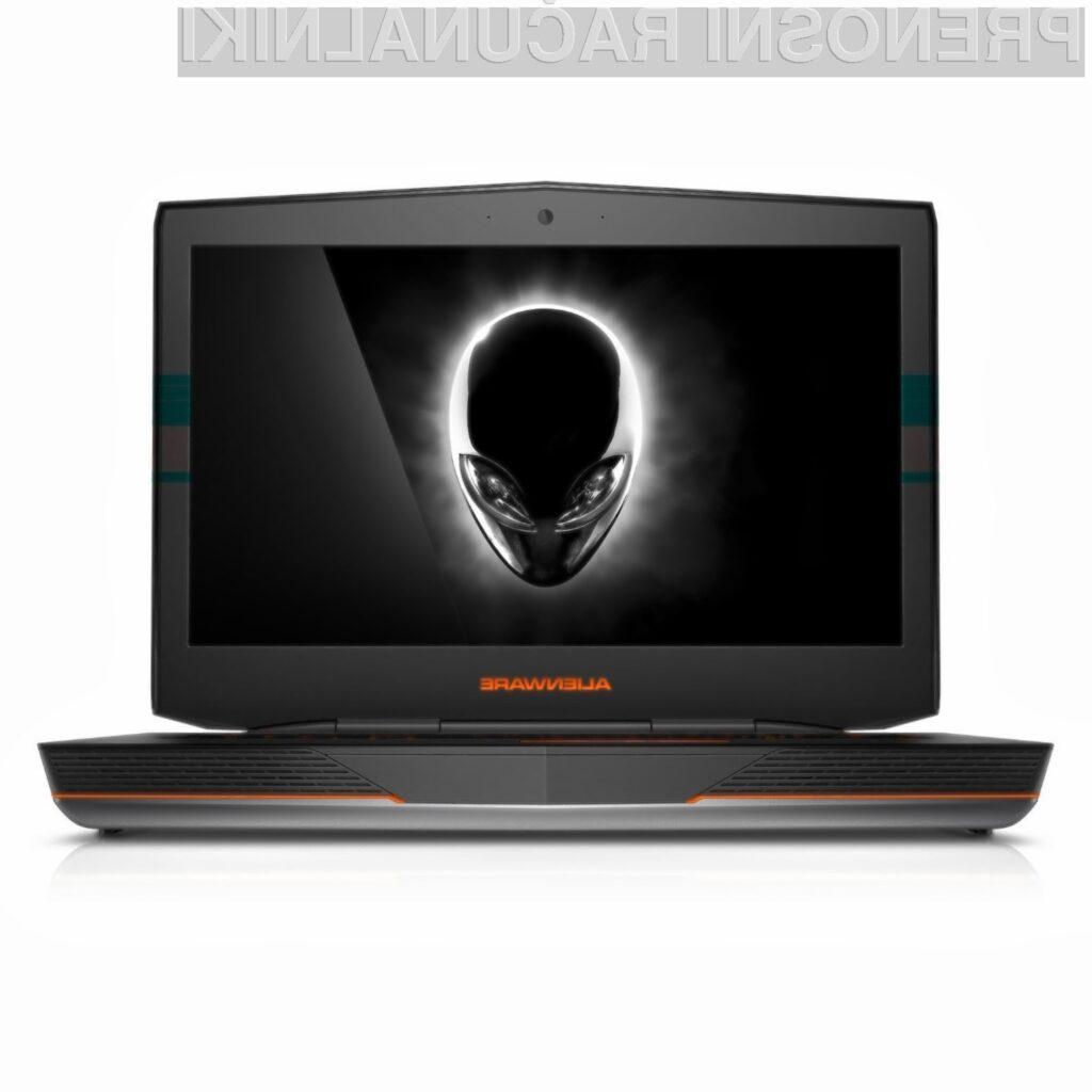 Prenosniku Dell Alienware 18 ALW18-3002sLV zaradi izjemno zmogljive strojne opreme vsaj zlahka ne bo zmanjkalo sape.