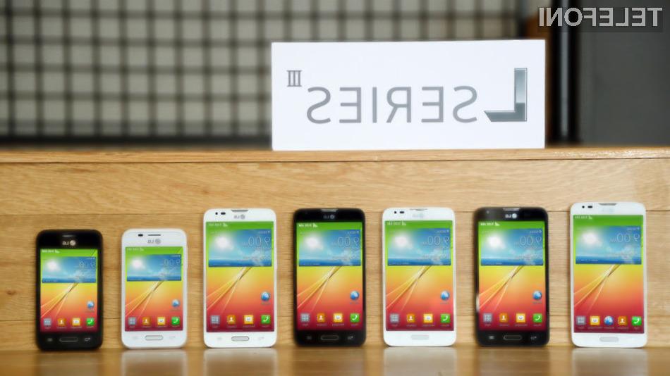 LG razkril tri nove pametne telefone L serije III