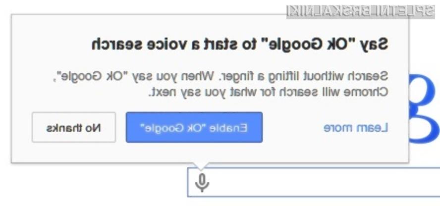 Uporaba možnosti »išči z glasom« precej pohitri iskanje želenih vsebin na svetovnem spletu!