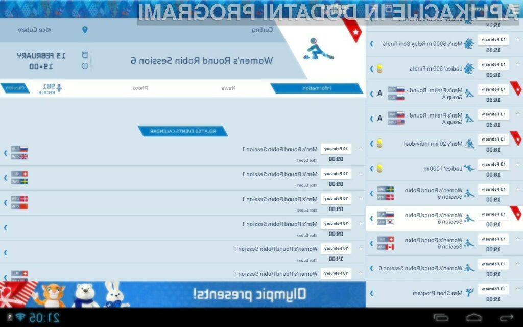 Aplikacije za Soči zimske olimpijske igre 2014