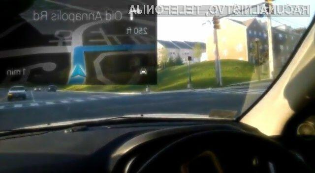 Pri podjetju Google so prepričani, da je uporaba njihovih večpredstavnostnih očal Glass v prometu povsem varna!