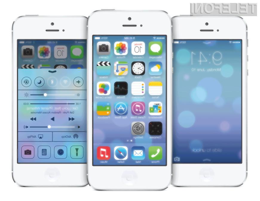 Mobilni operacijski sistem iOS 7.1 je žal mogoče namestiti le na novejše Applove mobilne naprave.