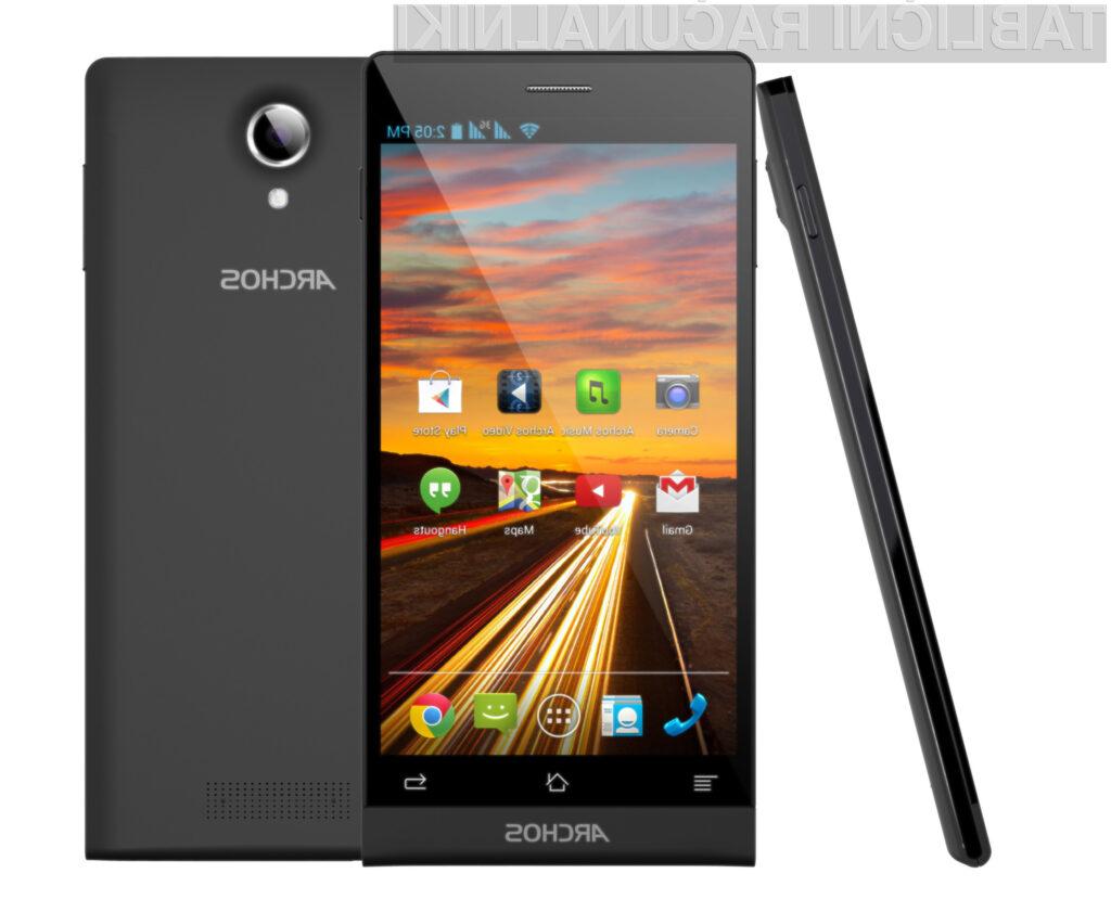 Mobilnik Archos 50c Oxygen je kljub nizki maloprodajni ceni izjemno odziven.