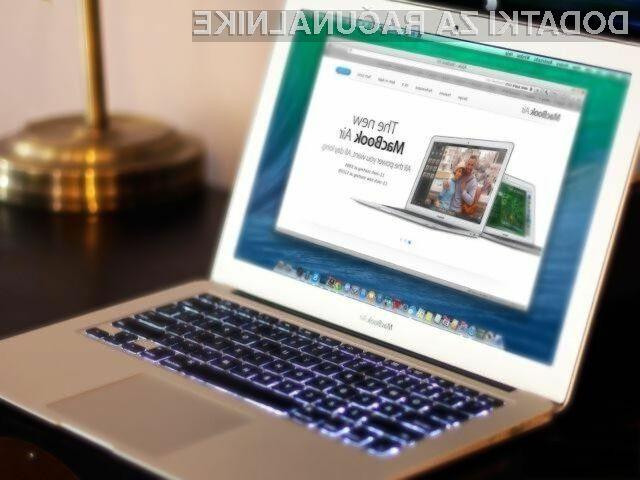 Prenovljeni prenosnik Apple MacBook Air naj bi bil na račun pasivnega hlajenja pri delovanju povsem neslišen.