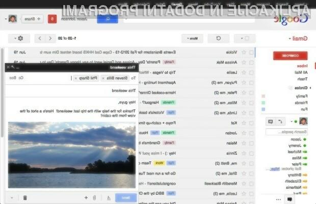 Spletni odjemalec elektronske pošte Gmail je postal varnejši in zanesljivejši!