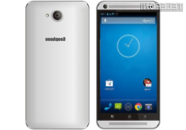 Pametni mobilni telefon Goophone M8 je kljub nizki ceni dovolj zmogljiv tudi za nekoliko zahtevnejše uporabnike.