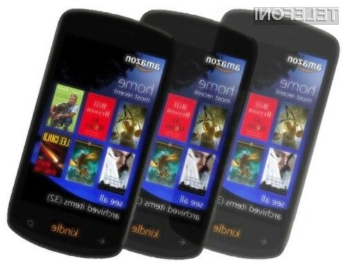 S pametnim mobilnim telefonom Amazon Kindle Phone naj bi bilo mogoče upravljati povsem brez dotika.
