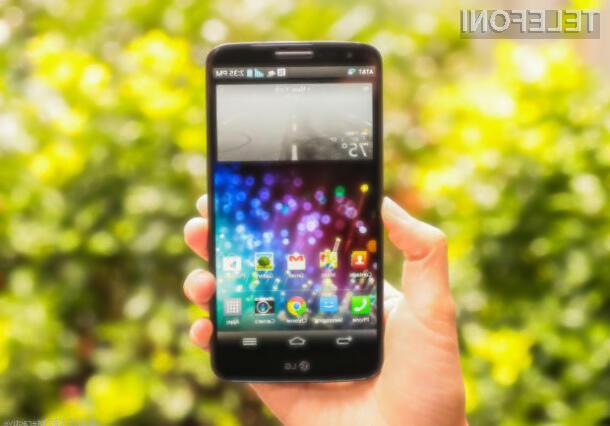 Pametni mobilni telefon LG G3 naj bi lahko uporabljali tudi v prašnih in mokrih pogojih.