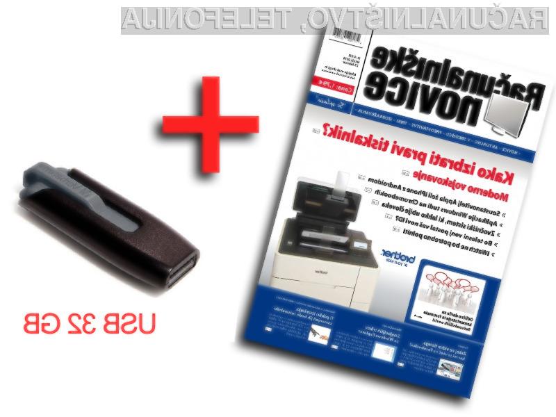 Samo še 10 paketov: 32GB USB ključ + revija Računalniške novice za samo 33,5€.