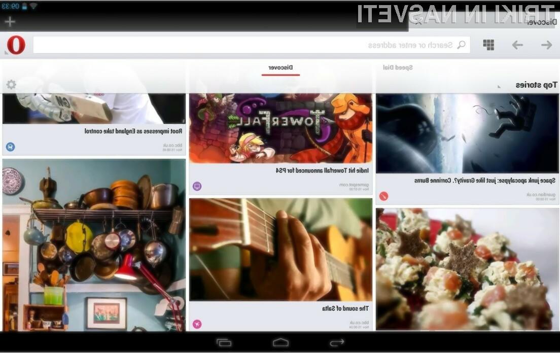 Video klice lahko uporabniki mobilnih naprav Android in brskalnika Opera odslej opravljajo kar znotraj brskalnika.