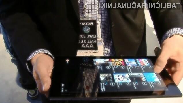 Tablica Sony Xperia Z2 bo na račun zmogljive strojne opreme zlahka prepričal tudi najzahtevnejše uporabnike