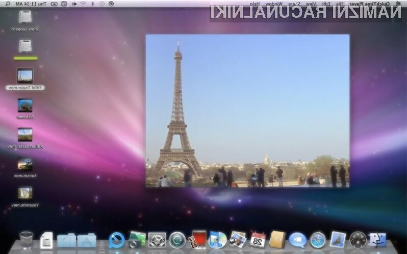 Za Apple operacijskega sistema OS X 10.6 Snow Leopard ni več na seznamu podprtih sistemov!
