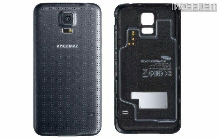 Kupci pametnega mobilnega telefona Samsung Galaxy S5 bodo za možnost brezžičnega polnjenja morali k ceni mobilnika primakniti še dodatnih 90 evrov.