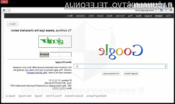 Algoritem spletne storitve Google Street View lahko varnosti sistem CAPTCHA rzvozla s kar 99,8 odstotno natančnostjo.