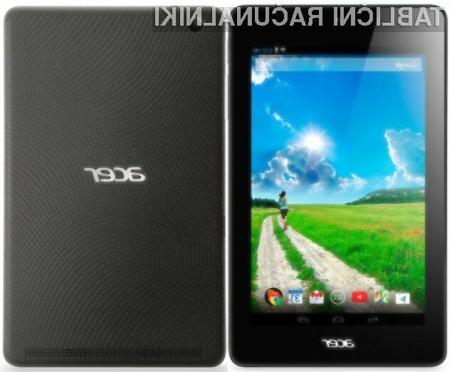 Tablični računalnik Acer Iconia B1 bo kljub nizki ceni dovolj zmogljiv tudi za nekoliko zahtevnejša opravila.