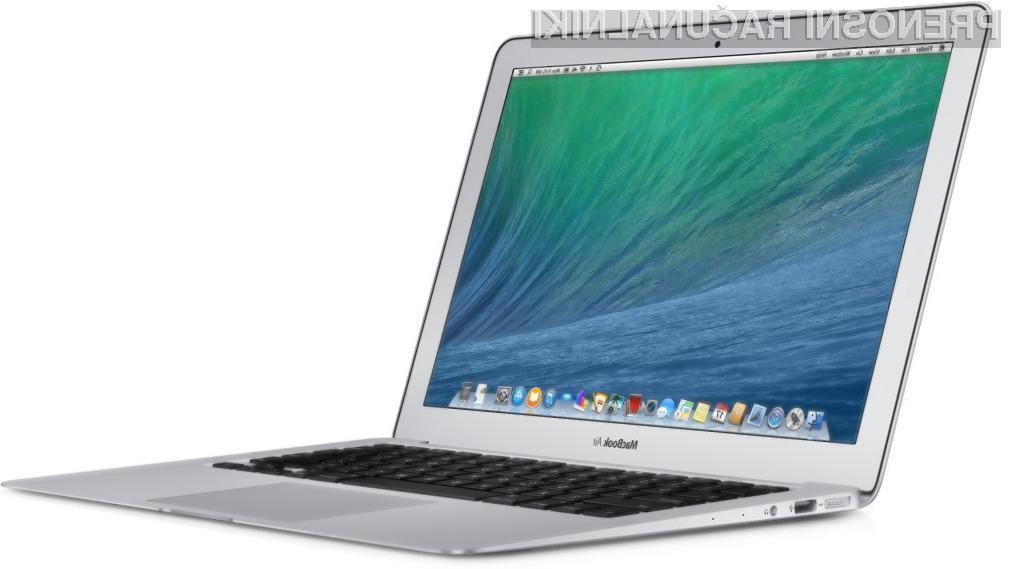 Novi prenosni računalniki Apple družine MacBook Air so opremljeni s 100 megahercev hitrejšimi procesorji in so za 100 evrov cenejši od predhodnikov.
