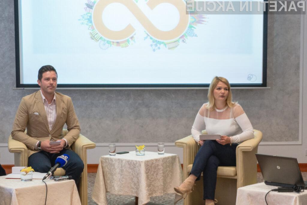 Eva Aljančič, direktorica marketinga in prodaje v Si.mobilu ter Jure Bohinc, vodja segmenta zasebnih uporabnikov v Si.mobilu. (foto: Jure Šinkovec)