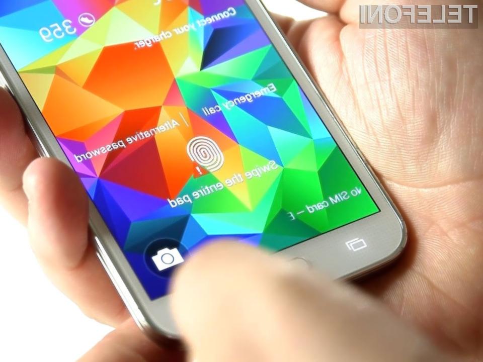 Zaščita bralnika prstnih odtisov pametnega mobilnega telefona Samsung Galaxy S5 je padla v zgolj nekaj dneh!
