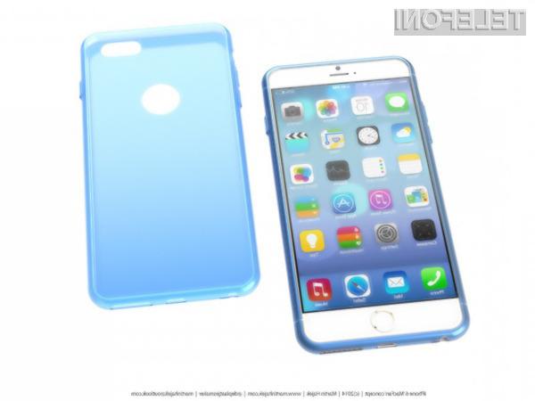 Pametni mobilni telefon iPhone 6 naj bi navduševal tudi po oblikovni plati!