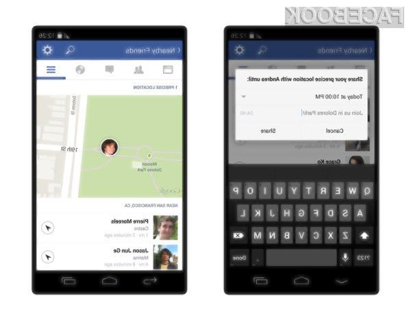 Facebook funkcionalnost za iskanje trenutno omogoča le uporabnikom njegove mobilne aplikacije onkraj luže.