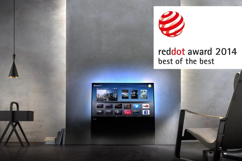Nagrada Red Dot za izjemen dizajn philipsovih TV DesignLine in Elevation