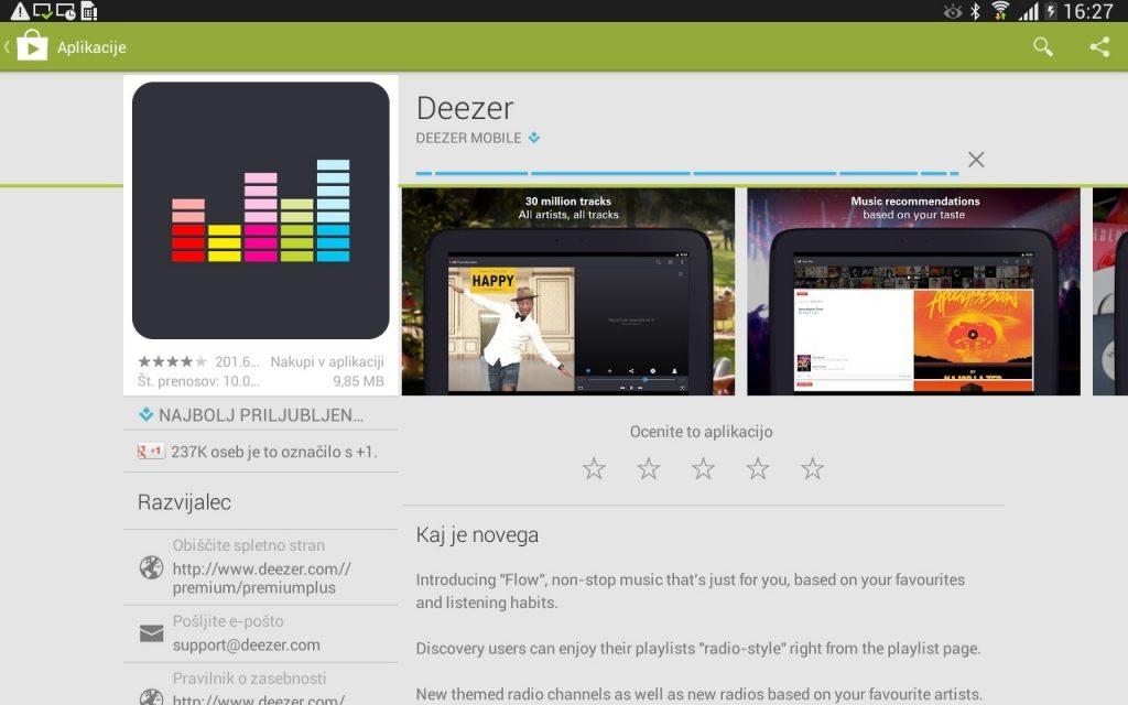 Od danes dalje naročnikom Telekoma Slovenije ekskluzivno na voljo glasbena storitev Deezer