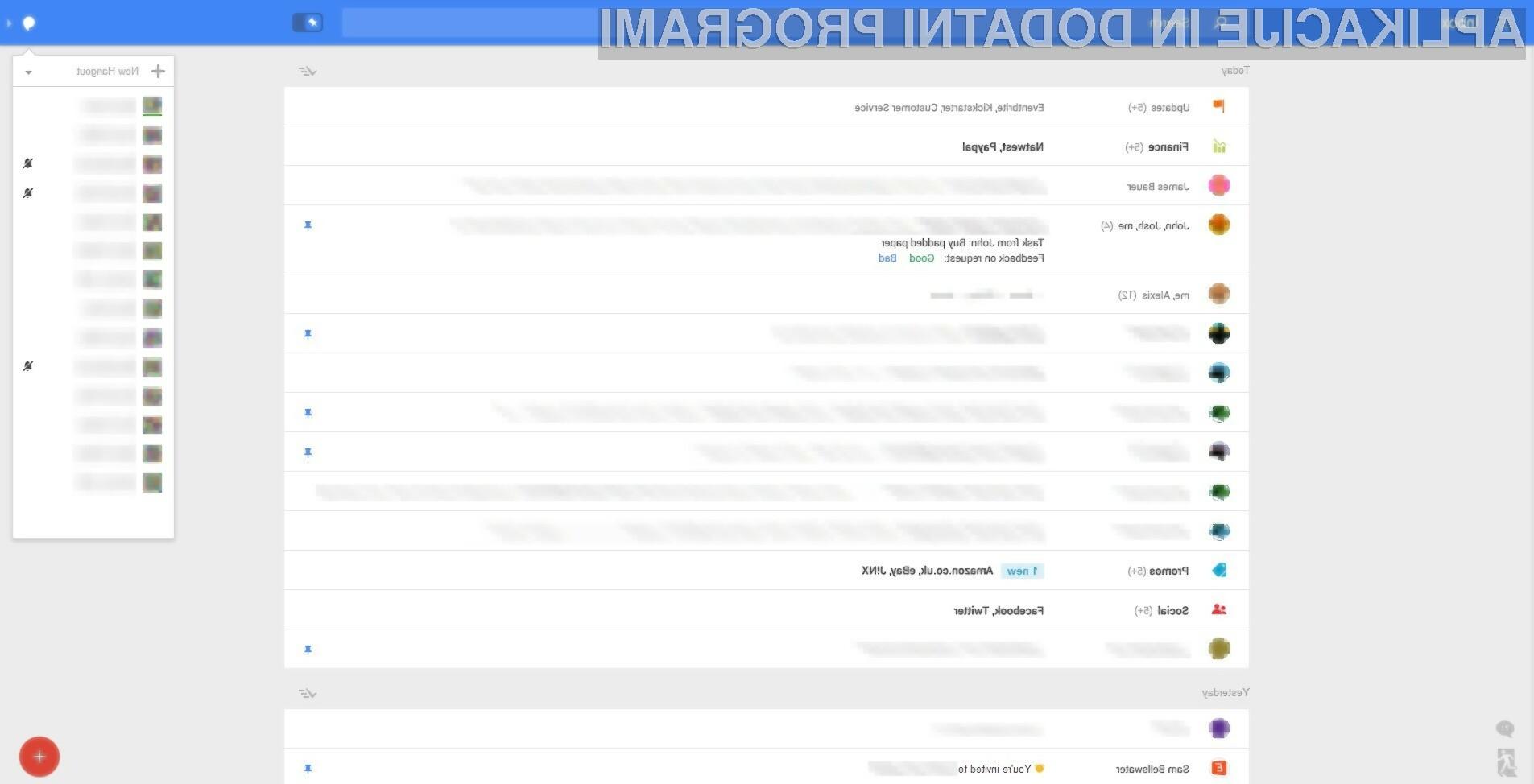 Novi grafični vmesnik odjemalca elektronske pošte Gmail naj bi spominjal na inačico, namenjeno mobilnim napravam.