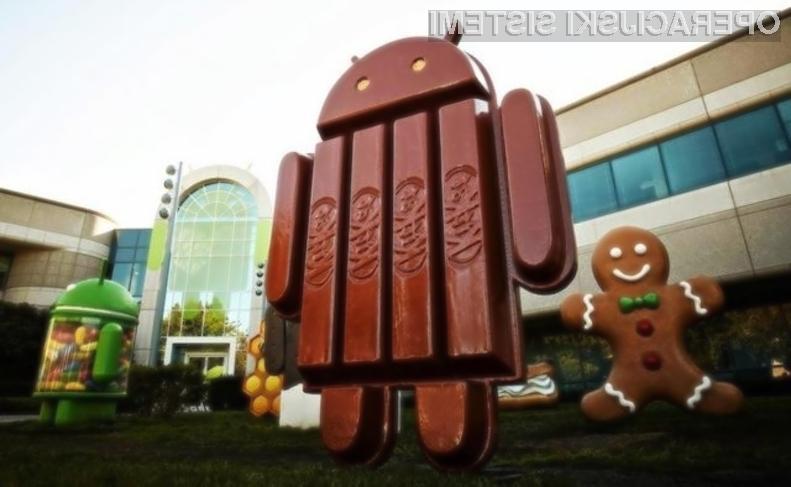 Najnovejši Android 4.4 KitKat zaradi velike »razdrobljenosti« težko zaide na starejše mobilne naprave