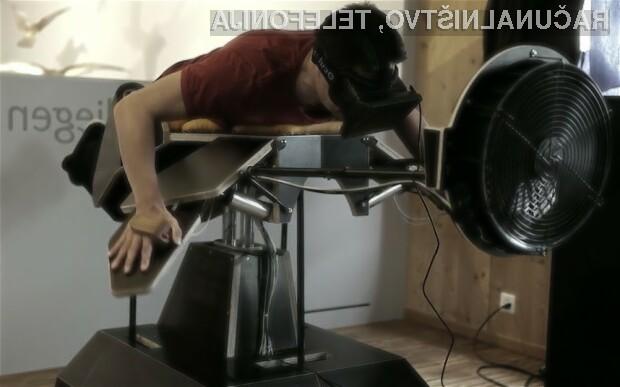 Simulator letenja Birdly Oculus Rift uporabniku omogoči, da vsaj za trenutek občuti lepoto letenja kot ptica.
