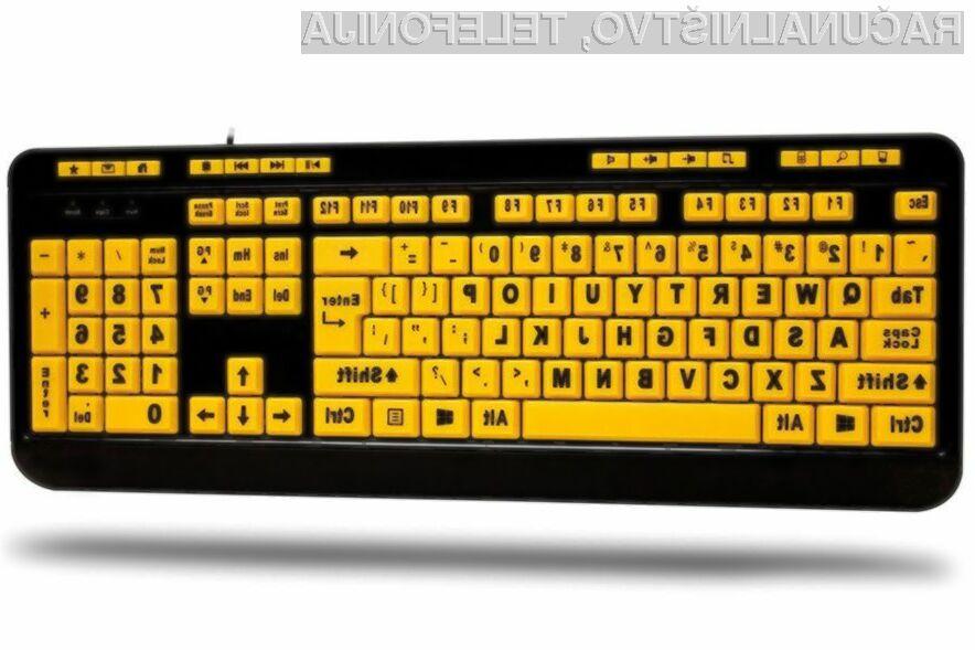 Tipkovnica EasyTouch 132 Luminous 4X Large Print Desktop je pisana na kožo tako slabovidnim kot tistim, ki prisegajo na nekoliko nenavadne izdelke.