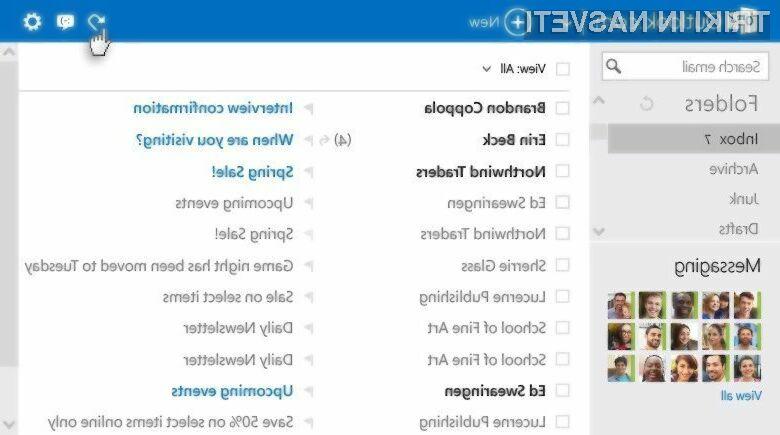 Priljubljeni spletni odjemalec elektronske pošte Outlook.com je močno pridobil na uporabnosti!