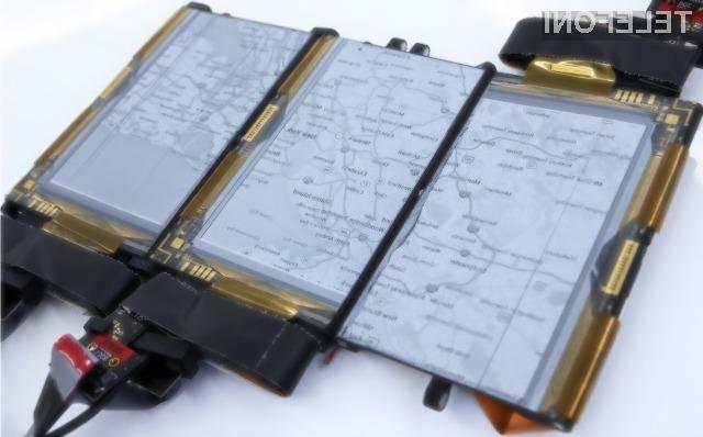 Prototip pametnega mobilnega telefona PaperFold s kar tremi zasloni se je v praksi odrezal več kot odlično.