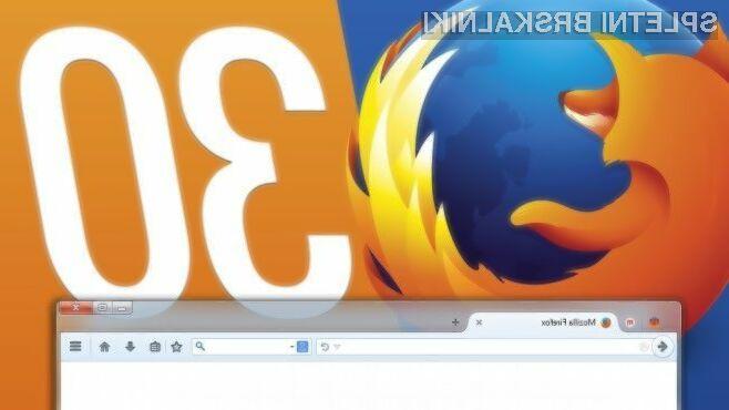 Spletni brskalnik Firefox 30 navdušuje v vseh pogledih!