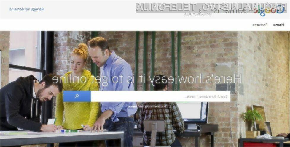 Google še v vlogi registratorja spletnih domen!