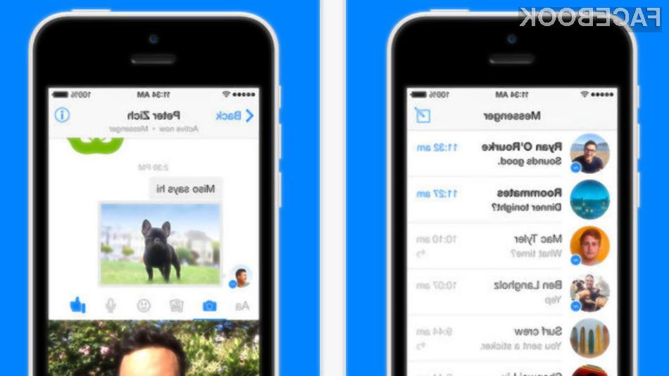 Mobilna aplikacija Facebook Messenger uporabnikom sedaj ponuja možnost snemanja in pošiljanja kratkih video sporočil.